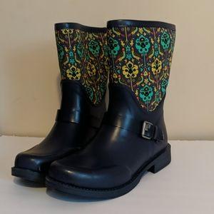 UGG Rain boots blue round toe